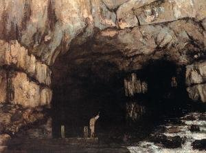 Famous paintings of Caves: The Source of the Loue River