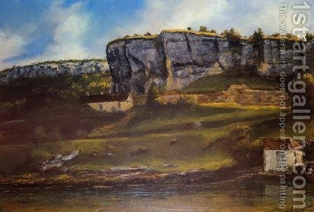 Landscape of the Ornans Region by Gustave Courbet - Reproduction Oil Painting