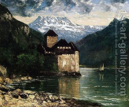 Chateau du Chillon I by Gustave Courbet - Reproduction Oil Painting
