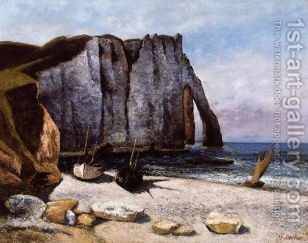 The Cliff at Etretat, the Porte d'Avale by Gustave Courbet - Reproduction Oil Painting