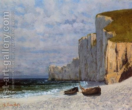 A Bay with Cliffs by Gustave Courbet - Reproduction Oil Painting