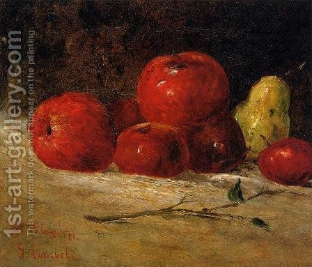 Still Life: Apples and Pears by Gustave Courbet - Reproduction Oil Painting