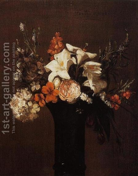 Flowers 2 by Ignace Henri Jean Fantin-Latour - Reproduction Oil Painting