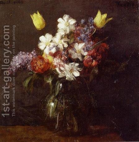 Flowers III by Ignace Henri Jean Fantin-Latour - Reproduction Oil Painting