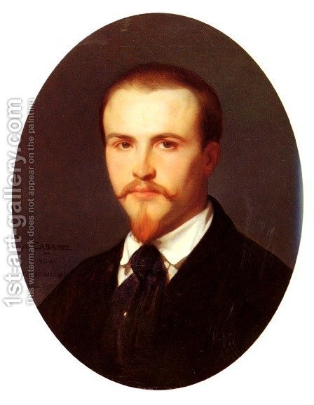 Self Portrait by Alexandre Cabanel - Reproduction Oil Painting