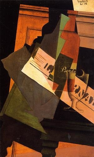 Reproduction oil paintings - Juan Gris - Bottle, Glass and Newspaper