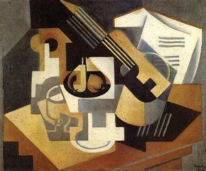 Reproduction oil paintings - Juan Gris - Guitar and Fruit Bowl on a Table