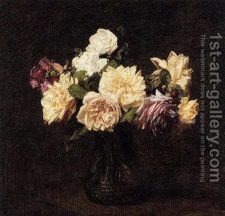 Roses XI by Ignace Henri Jean Fantin-Latour - Reproduction Oil Painting