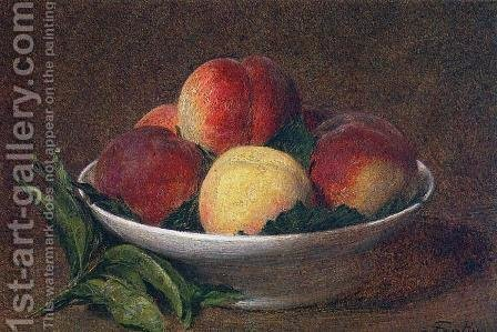 Peaches in a Bowl by Ignace Henri Jean Fantin-Latour - Reproduction Oil Painting