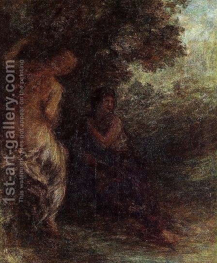 Two Bathers by Ignace Henri Jean Fantin-Latour - Reproduction Oil Painting