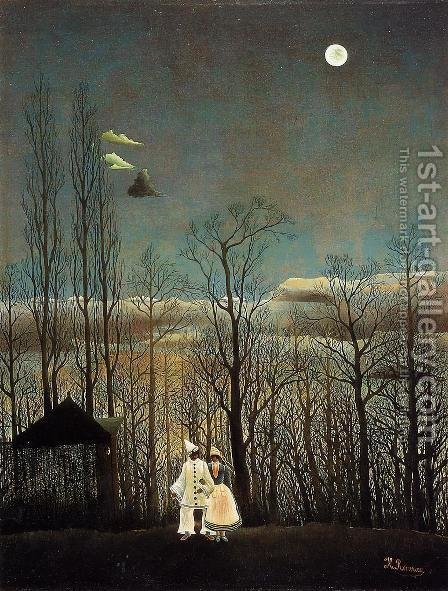 A Carnival Evening by Henri Julien Rousseau - Reproduction Oil Painting
