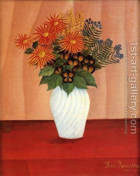 Bouquet of Flowers I by Henri Julien Rousseau - Reproduction Oil Painting