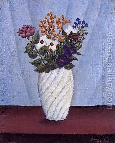 Bouquet of Flowers II by Henri Julien Rousseau - Reproduction Oil Painting
