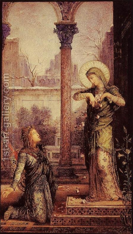 The Poet and the Saint by Gustave Moreau - Reproduction Oil Painting