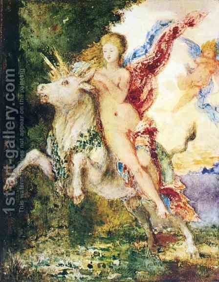 The Abduction of Europa by Gustave Moreau - Reproduction Oil Painting