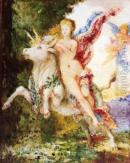Europa and the Bull by Gustave Moreau - Reproduction Oil Painting