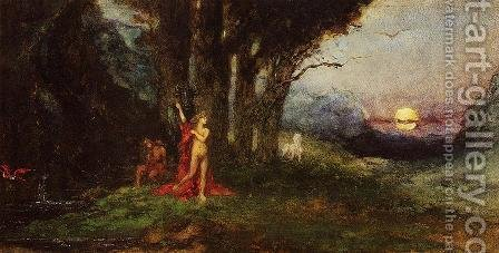 Pasiphae and the Bull by Gustave Moreau - Reproduction Oil Painting
