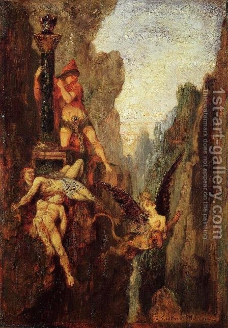 The Sphinx Undone by Gustave Moreau - Reproduction Oil Painting