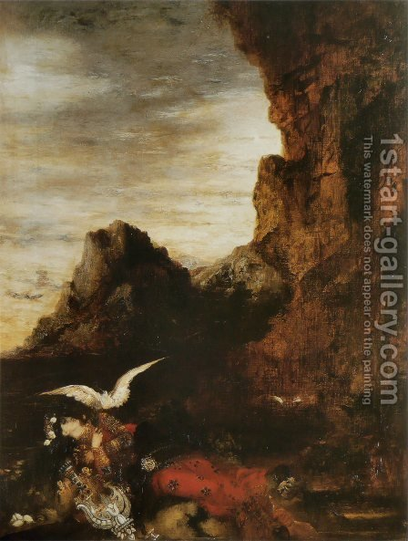 The Death of Sappho II by Gustave Moreau - Reproduction Oil Painting