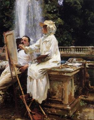 Reproduction oil paintings - Sargent - The Fountain, Villa Torlonia, Frascati, Italy