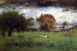 Reproduction oil paintings - George Inness - Early Autumn, Montclair