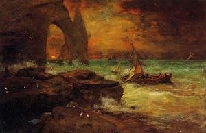 Reproduction oil paintings - George Inness - Sunset, Etretat
