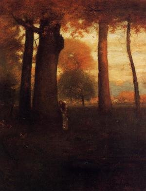 Reproduction oil paintings - George Inness - Sunset, Golden Glow