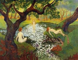 Nabis painting reproductions: Three Bathers with Irises