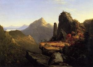 Famous paintings of Indians: Scene from 'The Last of the Mohicans': Cora Kneeling at the Feet of Tanemund