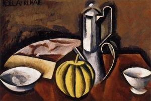 Famous paintings of Teapots: Still Life with Coffee Pot and Melon
