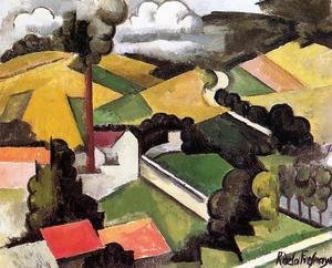 The Factory Chimney, Meulan Landscape