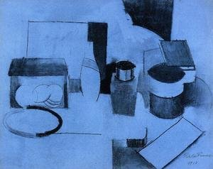 Still Life, Tin of Tea and Pot of Tobacco