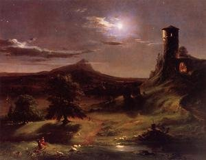 Reproduction oil paintings - George Inness - Moonlight in Virginia