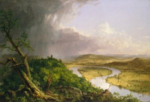 Famous paintings of Clouds & Skyscapes: The Oxbow