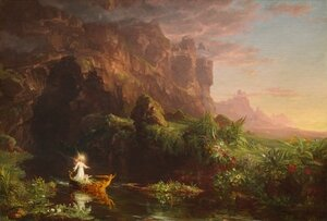 Reproduction oil paintings - Thomas Cole - The Voyage of Life: Childhood