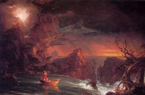 Famous paintings of Storms & Rough Water: The Voyage of Life: Manhood I
