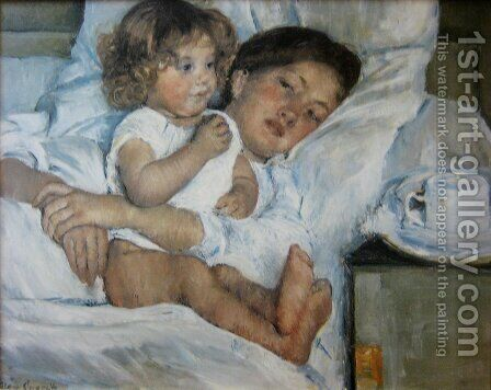 Mary Cassatt: Breakfast in Bed - reproduction oil painting