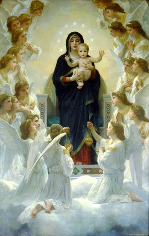 Famous paintings of Angels: The Virgin With Angels