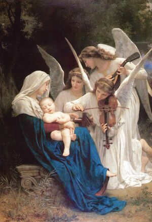 Famous paintings of Christianity: Song of the Angels