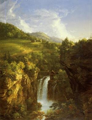 Famous paintings of Clouds & Skyscapes: Genesee Scenery