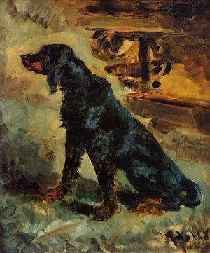Reproduction oil paintings - Toulouse-Lautrec - Dun, a Gordon Setter Belonging to Comte Alphonse de Toulouse-Lautrec