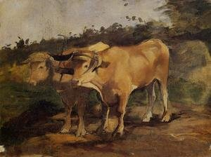 Reproduction oil paintings - Toulouse-Lautrec - Two Bulls Wearing a Yoke