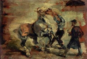 Reproduction oil paintings - Toulouse-Lautrec - Horse Fighting His Groom