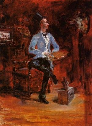 Reproduction oil paintings - Toulouse-Lautrec - Princeteau in His Studio I