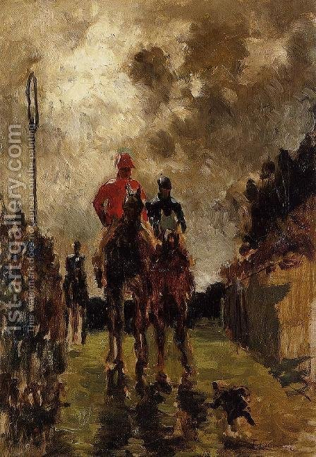 Jockeys by Toulouse-Lautrec - Reproduction Oil Painting