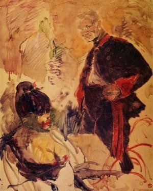 Reproduction oil paintings - Toulouse-Lautrec - Artillerman and Girl