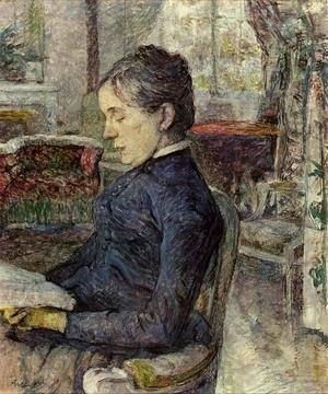 Reproduction oil paintings - Toulouse-Lautrec - Comtesse a. de Toulouse-Lautrec in the Salon at Malrome