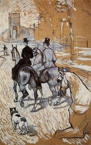 Reproduction oil paintings - Toulouse-Lautrec - Horsemen Riding in the Bois de Boulogne