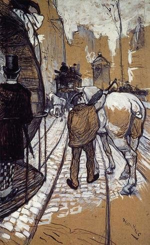 Reproduction oil paintings - Toulouse-Lautrec - Workers for the Bus Company