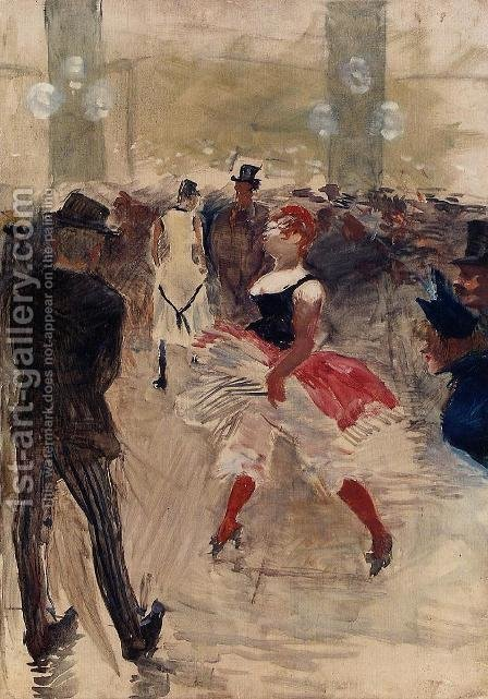 A l'Elysee-Montmartre by Toulouse-Lautrec - Reproduction Oil Painting